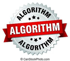 algorithm round isolated silver badge