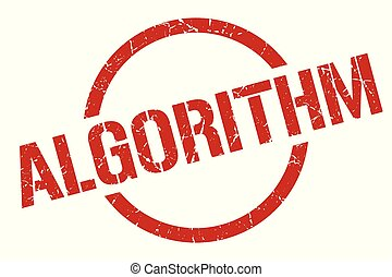 algorithm stamp - algorithm red round stamp