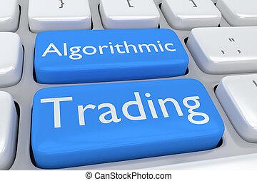 Algorithmic Trading concept - Render illustration of ...