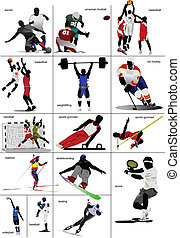 algum, sports., tipos, collection.