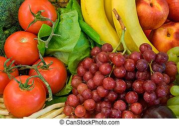 algum, veggies, frutas