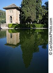 alhambra, 庭, スペイン