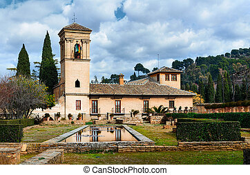 alhambra, 庭, 光景