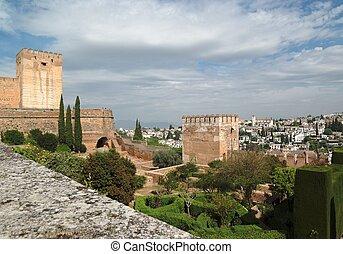 Alhambra castle in Granada, Spain