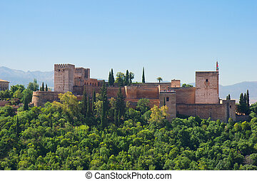 alhambra, forteca, hiszpania
