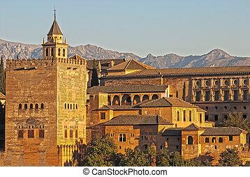 alhambra, granada, hiszpania