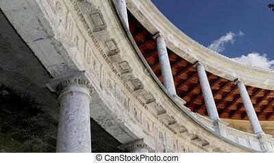 Alhambra, Granada, Spain? - Renaissance palace of Carlos V,...