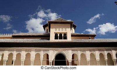 Alhambra Palace -Granada, Spain - Alhambra Palace - medieval...