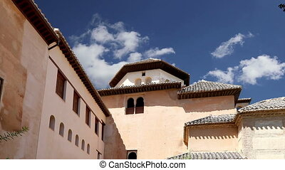 Alhambra Palace -Granada, Spain - Alhambra Palace - medieval...