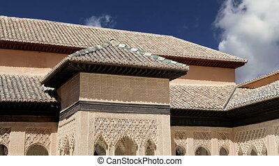 Alhambra Palace in Granada,Spain - Alhambra Palace -...