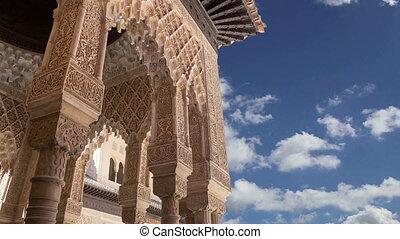 Alhambra Palace - medieval moorish castle in Granada,...