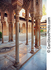 Alhambra patio, Granada, Spain