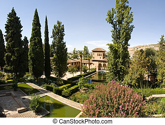 Alhambra with flowers