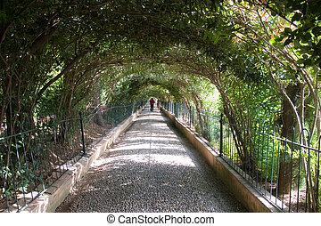 Alhambra\\\'s hall way