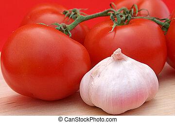 alho, tomates, &