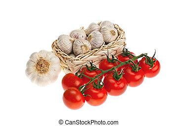alho, tomates