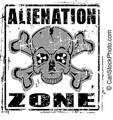 aliénation, zone