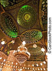 ali, cairo., mahoma, egipto, interior., mosque.