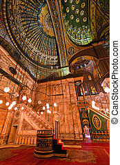 ali, cairo., mohammed, egypte, binnenkant., mosque.