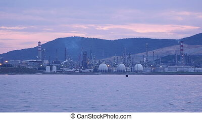 """aliaga oil refinery, petrochemical petrol plant, izmir, turkey"""