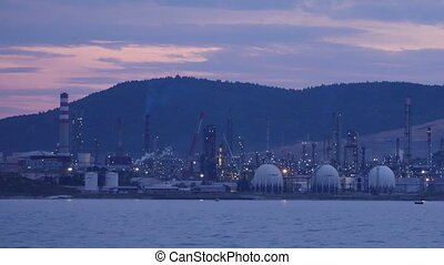 """aliaga oil refinery, petrochemical petrol plant, izmir, turkey, timelapse"""