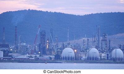 """aliaga oil refinery, petrochemical petrol plant, izmir, turkey"""