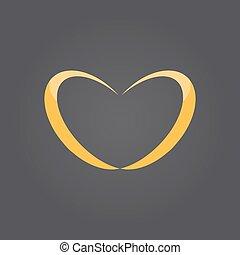 alianzas, en, forma corazón
