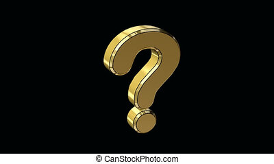 alias of question mark in 3d gold