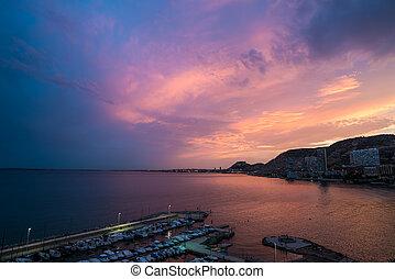 Alicante great sunset