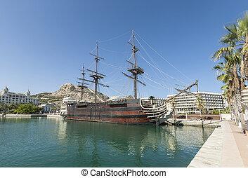 Alicante Harbour on Costa Blanca in Spain
