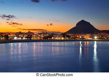 Alicante Javea sunset beach night view - Alicante Javea ...
