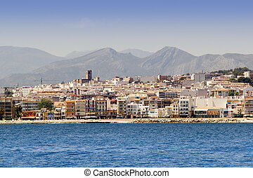 Alicante Javea village view from mediterranean sea Spain...