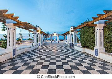 Alicante, méditerranéen,  Benidorm, espagne,  balcon