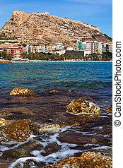Alicante, mer, espagne, côte