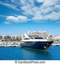 Alicante Santa Pola port marina from valencian Community at...