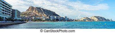 Alicante, Spain coastline in summer