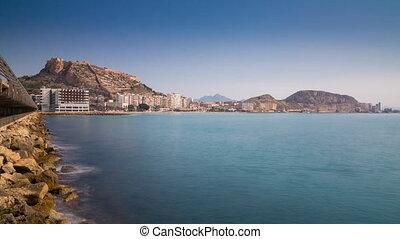 Alicante, Spain - Time lapse of Alicante bay, Spain