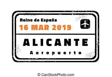Alicante vector stamp