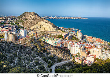 Alicante View from the Fortress of Santa Barbara