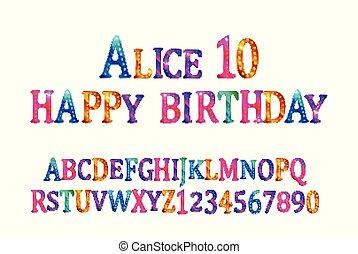 Alice 10 font children's