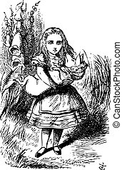 Alice and the pig baby - Alice's Adventures in Wonderland...