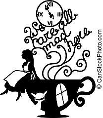 Alice in Wonderland vector illustration