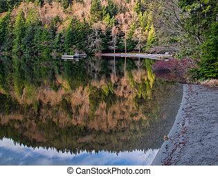 Alice Lake Beach Reflection