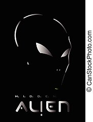 Alien, Alien face. Alien head - Alien, Hidden Metallic...