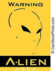 Alien. Alien face. Alien head