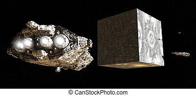 Alien Artifact in Space