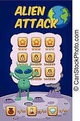 Alien attack game concept