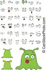 alien cartoon set