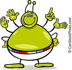 alien character cartoon illustration