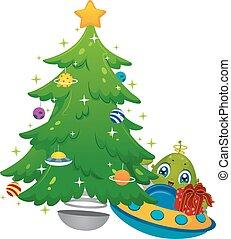 Alien Christmas Tree Gift